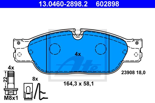 Jarrupalasarja, levyjarru ATE 13.0460-2898.2