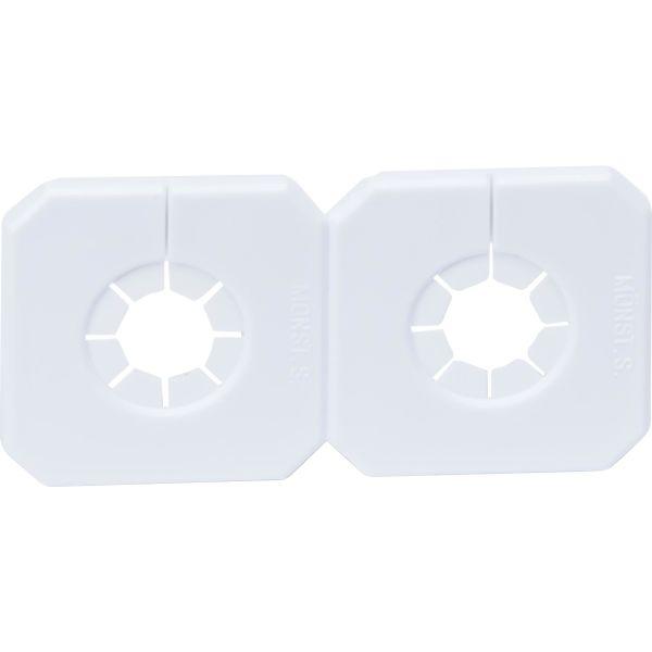 Purus Duo-Täck 52173 Dekkbrikke hvit 10-18 mm 40 c/c