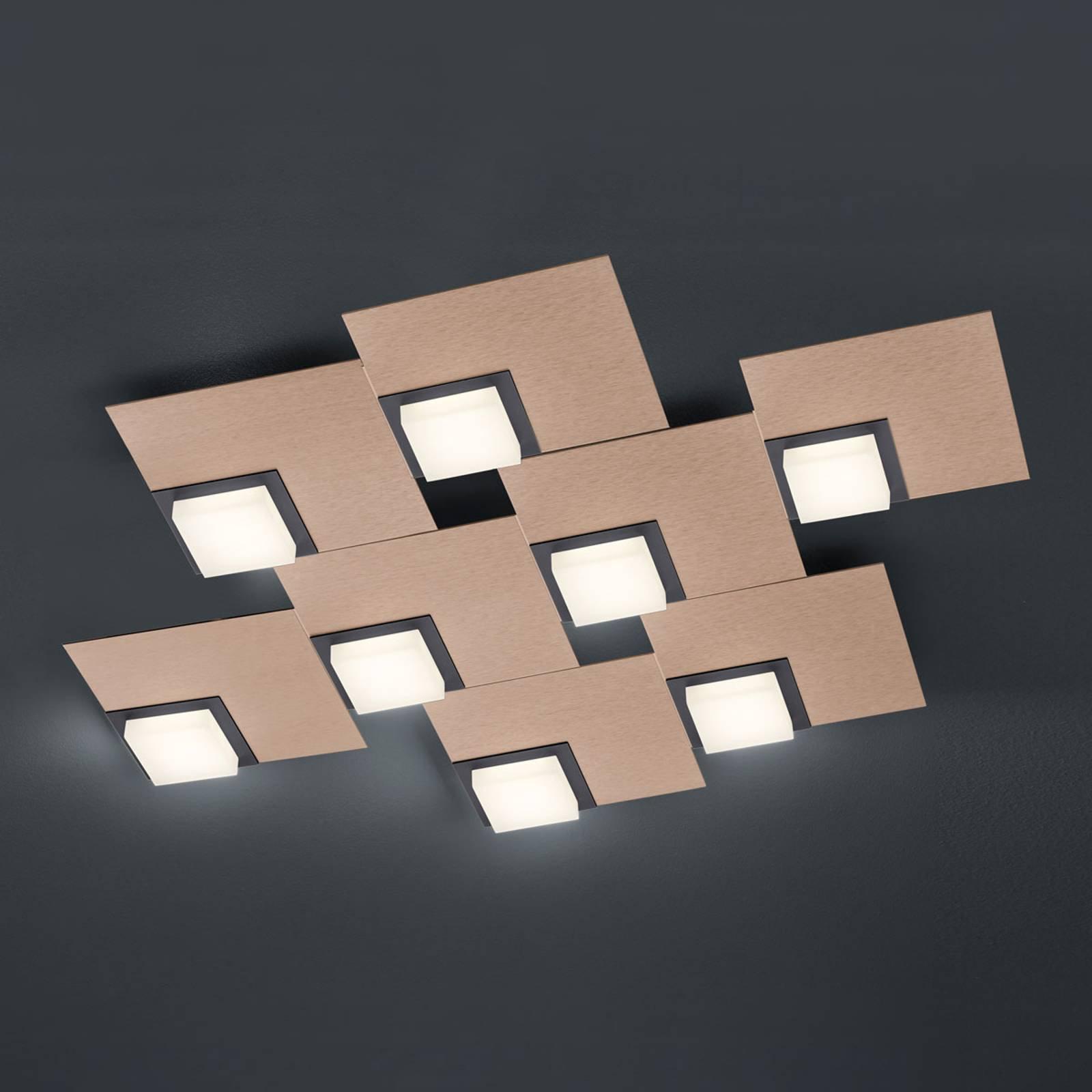 BANKAMP Quadro LED-taklampe 64 W, roségull