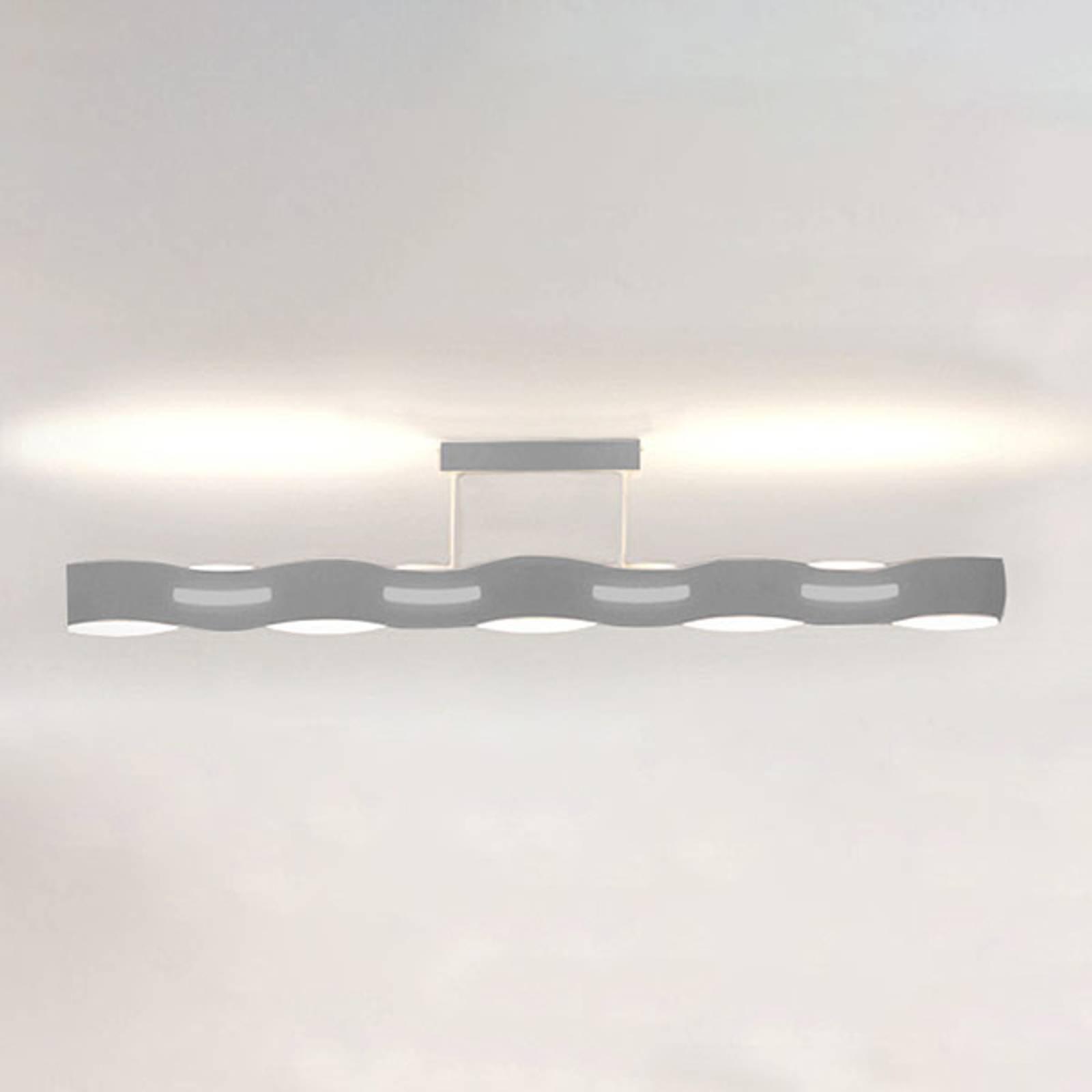 LED-taklampe Wave nikkel