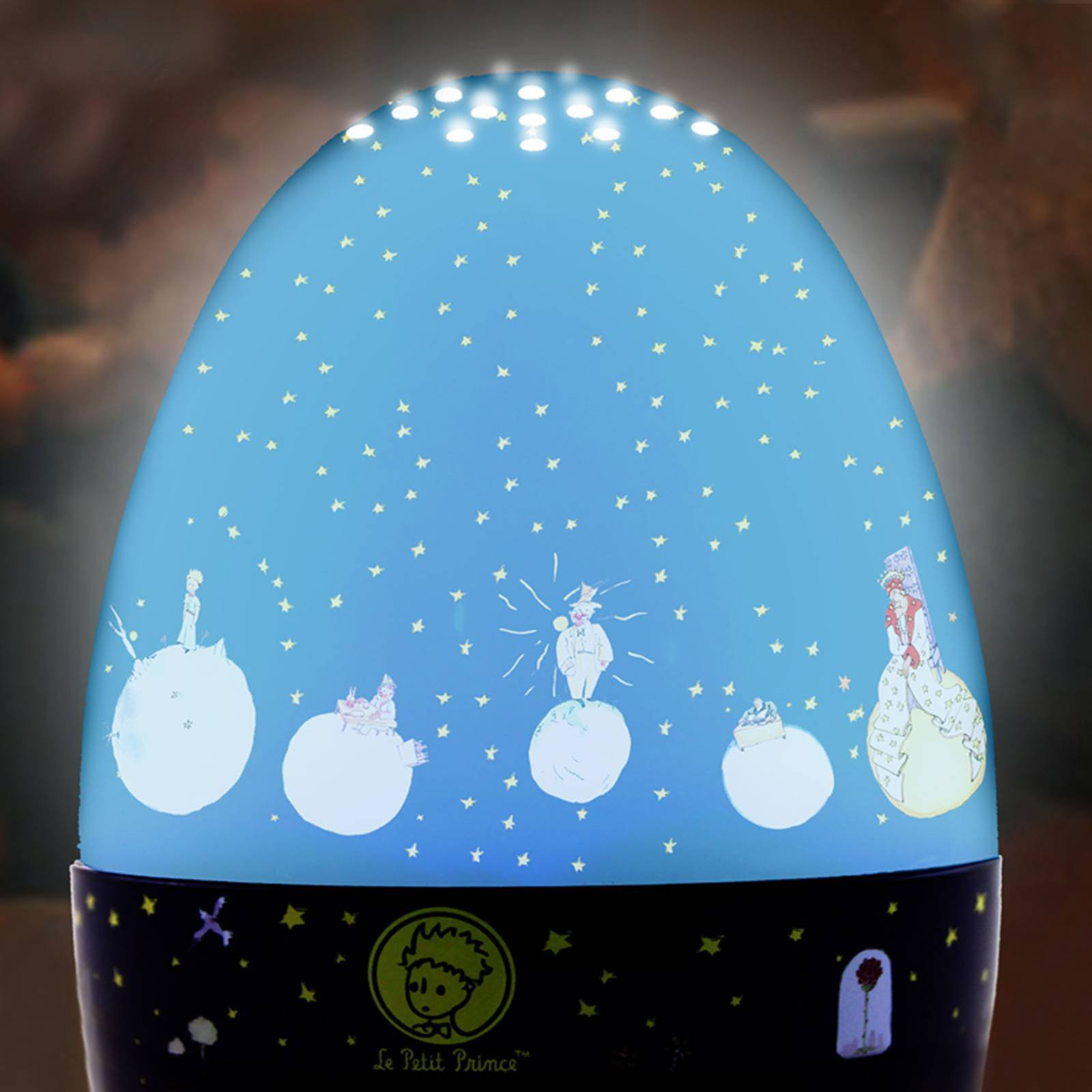 LED-nattlampe Lille Prins, lykt med spilledåse