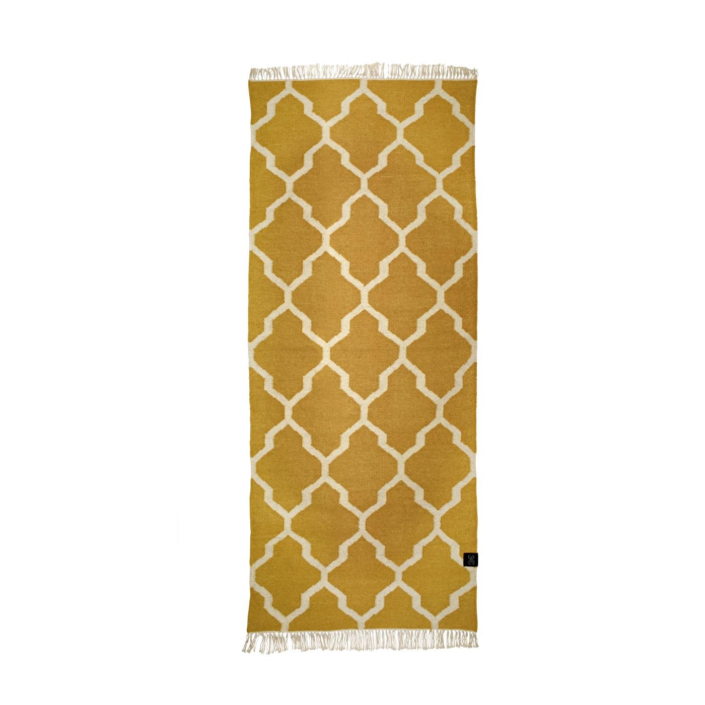 Gångmatta ull Tangier gul 80x200, Classic Collection