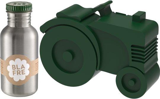 Blafre Matboks Traktor 2 Rom & Stålflaske 500 ml, Mørkegrønn