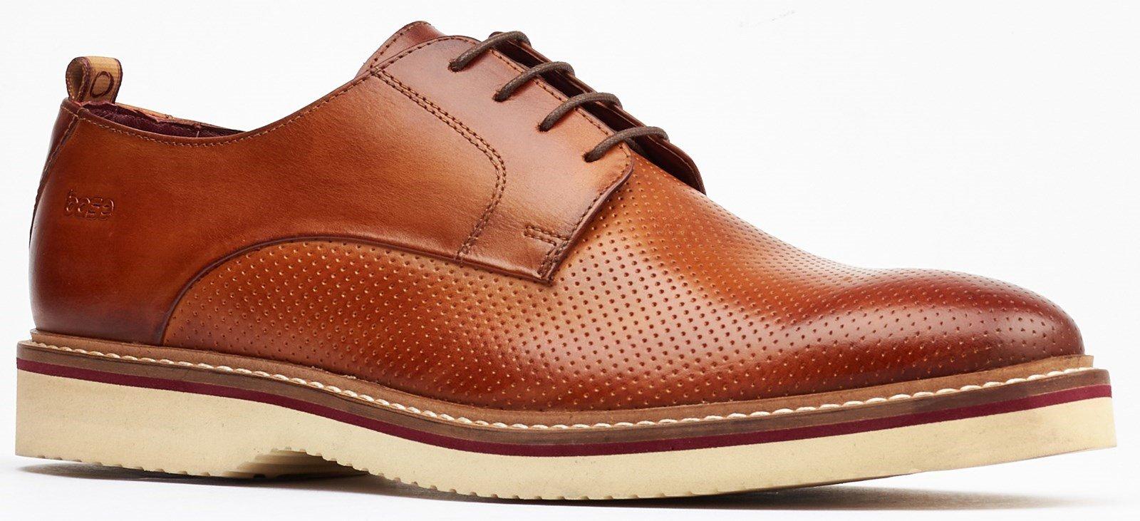 Base London Men's Grady Derby Shoe Tan 32254 - Tan 7