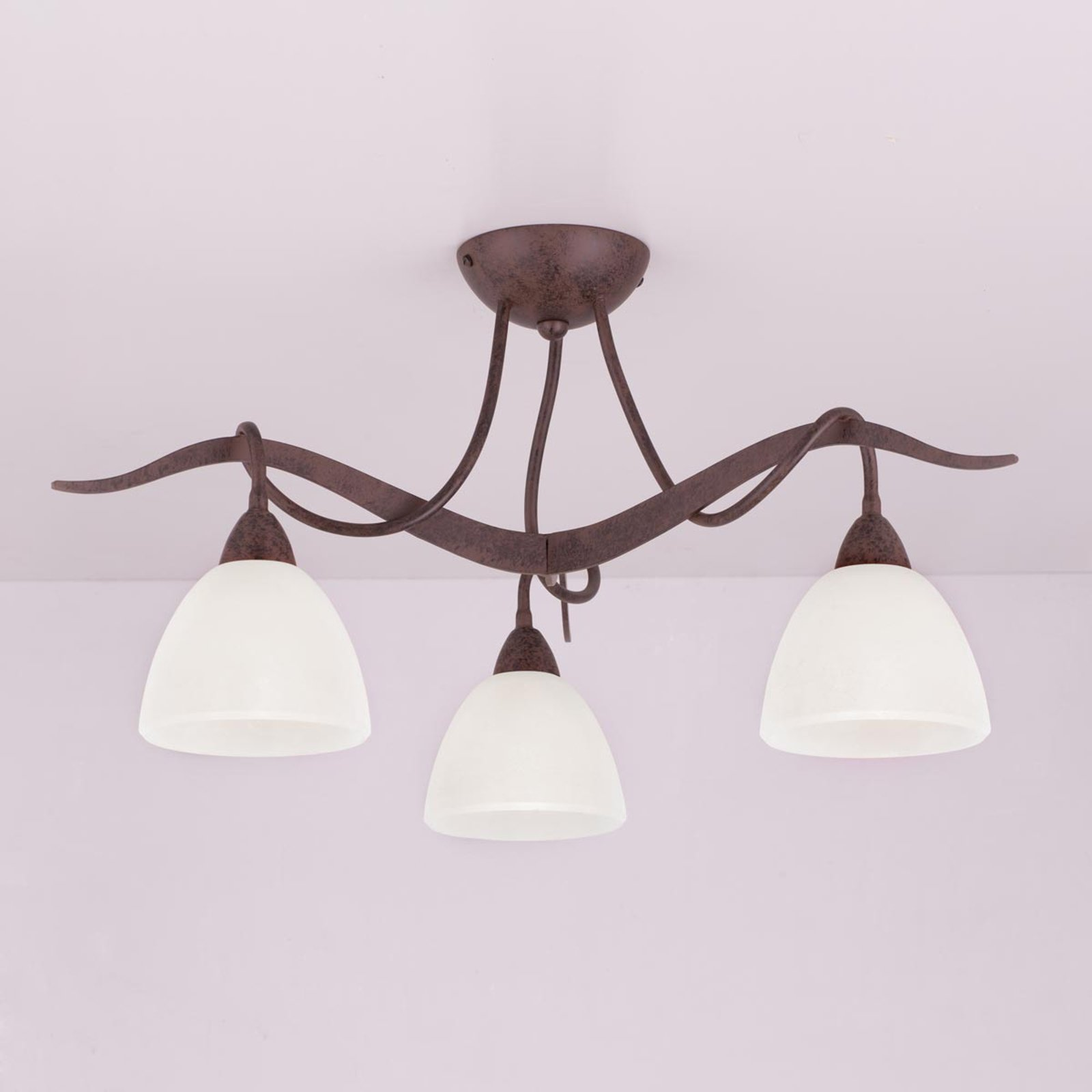 Taklampe Samuele i landlig stil 3 lys, scavo