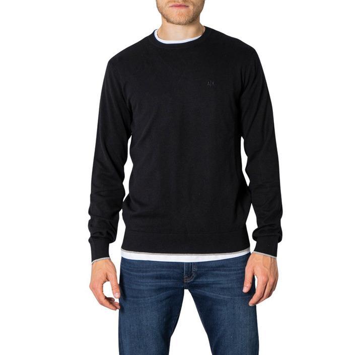 Armani Exchange Men's Sweater Black 273248 - black S