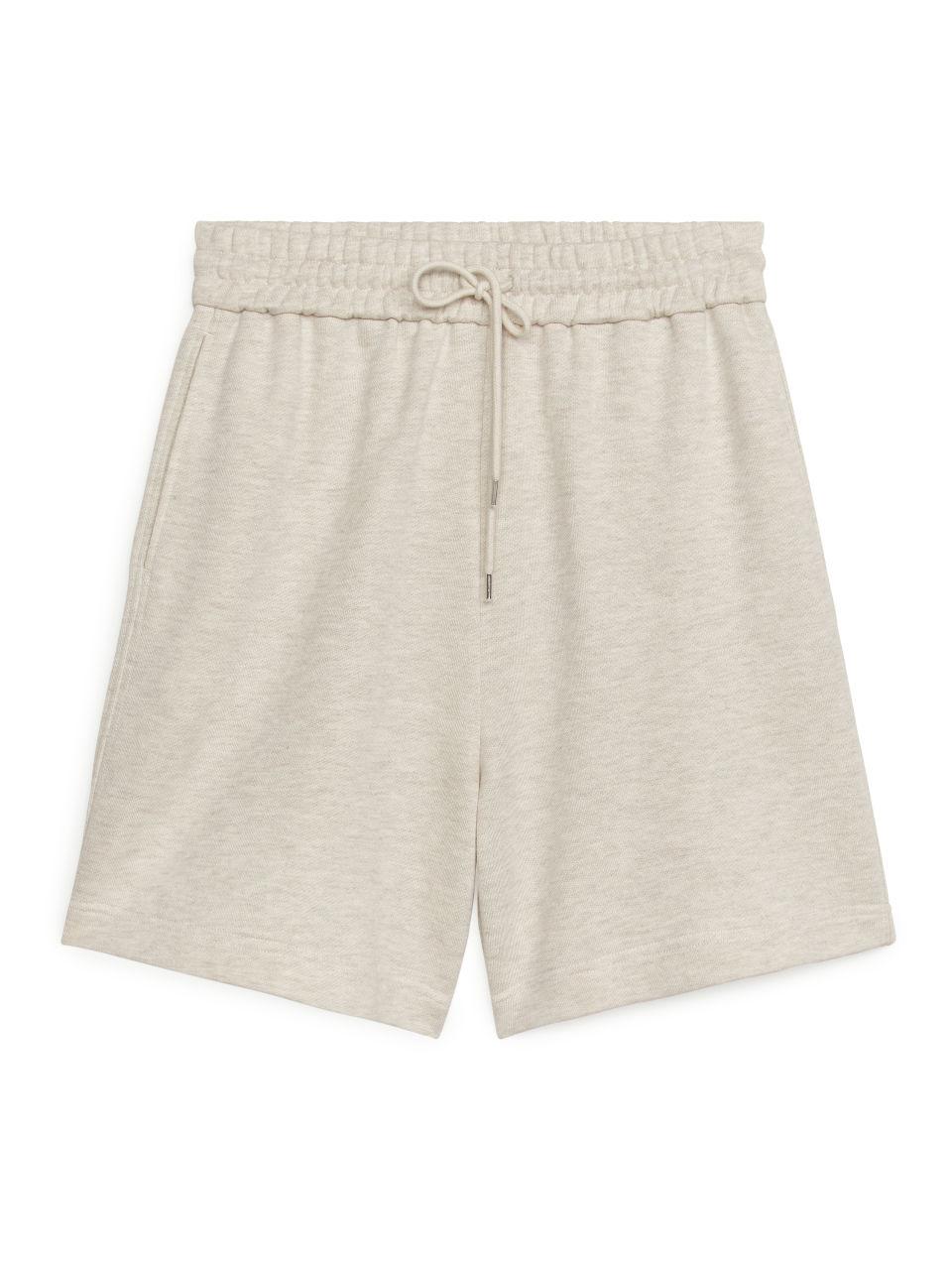 Lyocell Blend Shorts - Beige