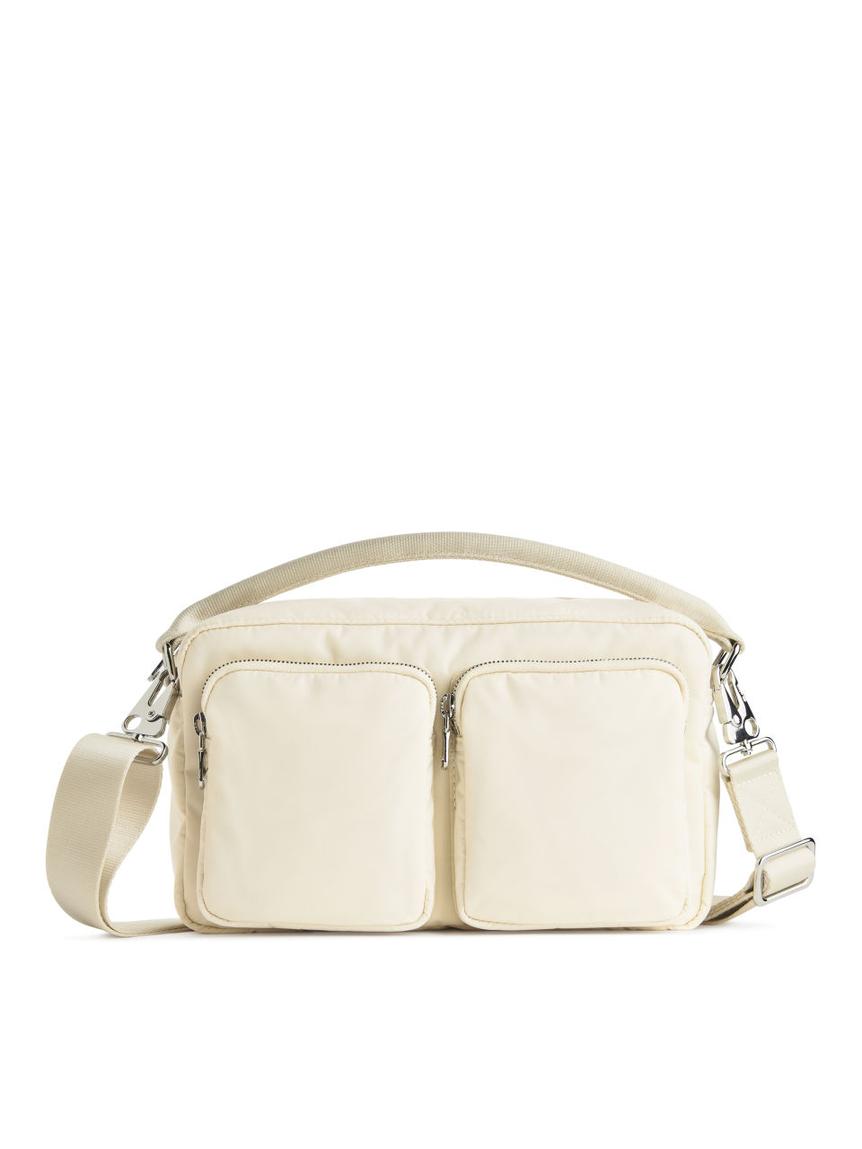 Multipocket Crossbody Bag - Beige