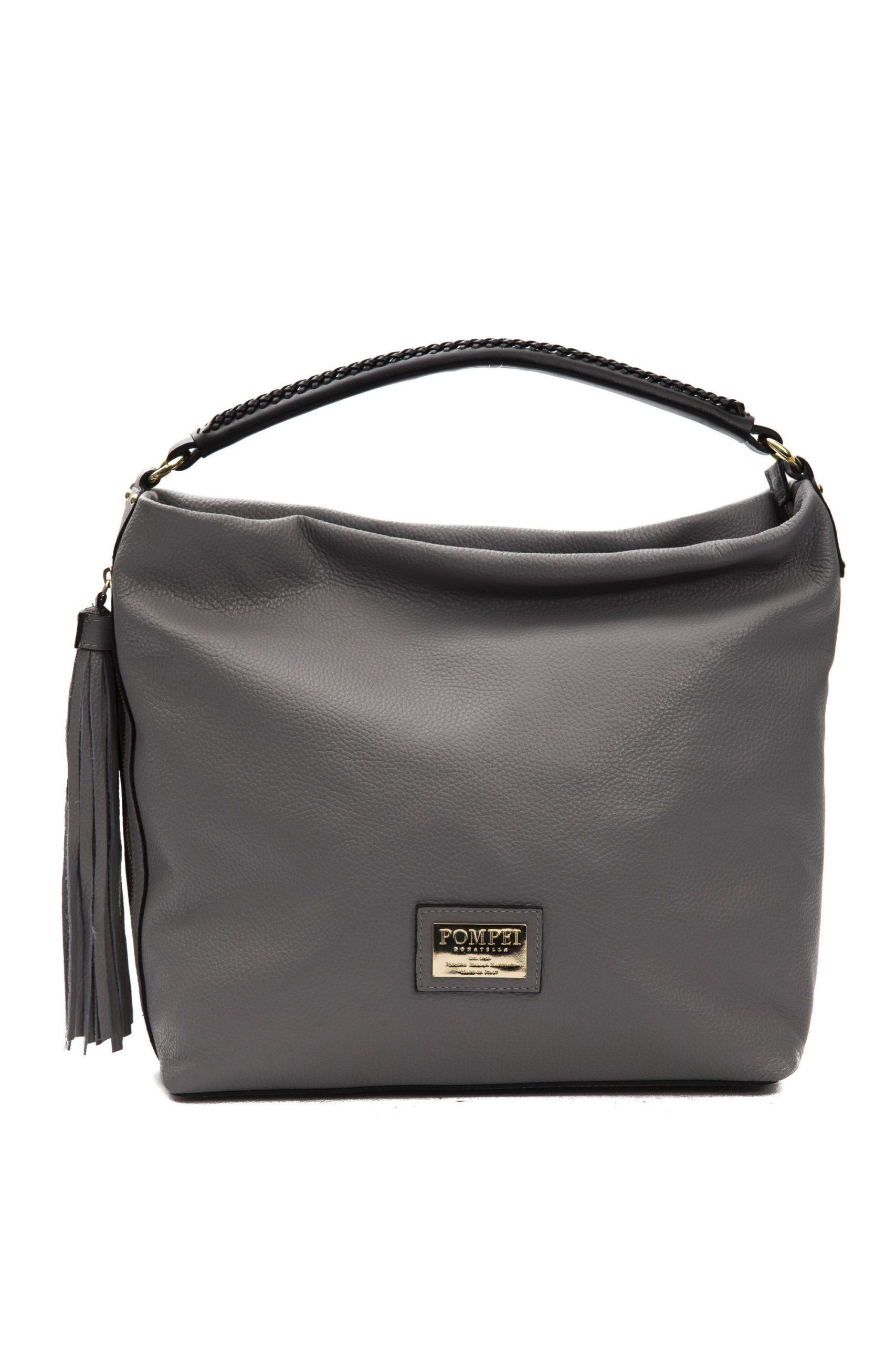 Pompei Donatella Women's Fog Shoulder Bag Grey PO1005083