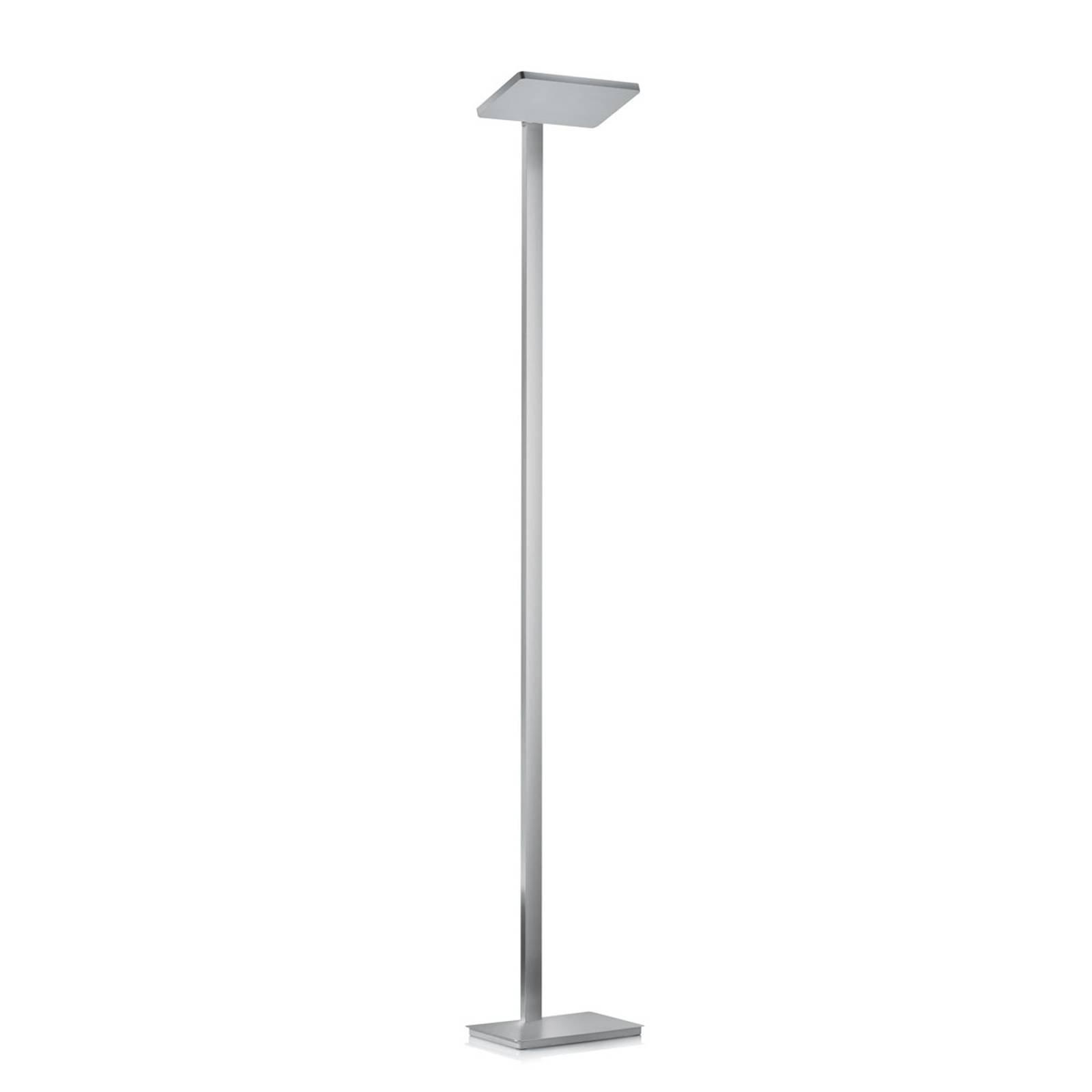 Moderne LED-gulvlampe Geri i matt nikkel
