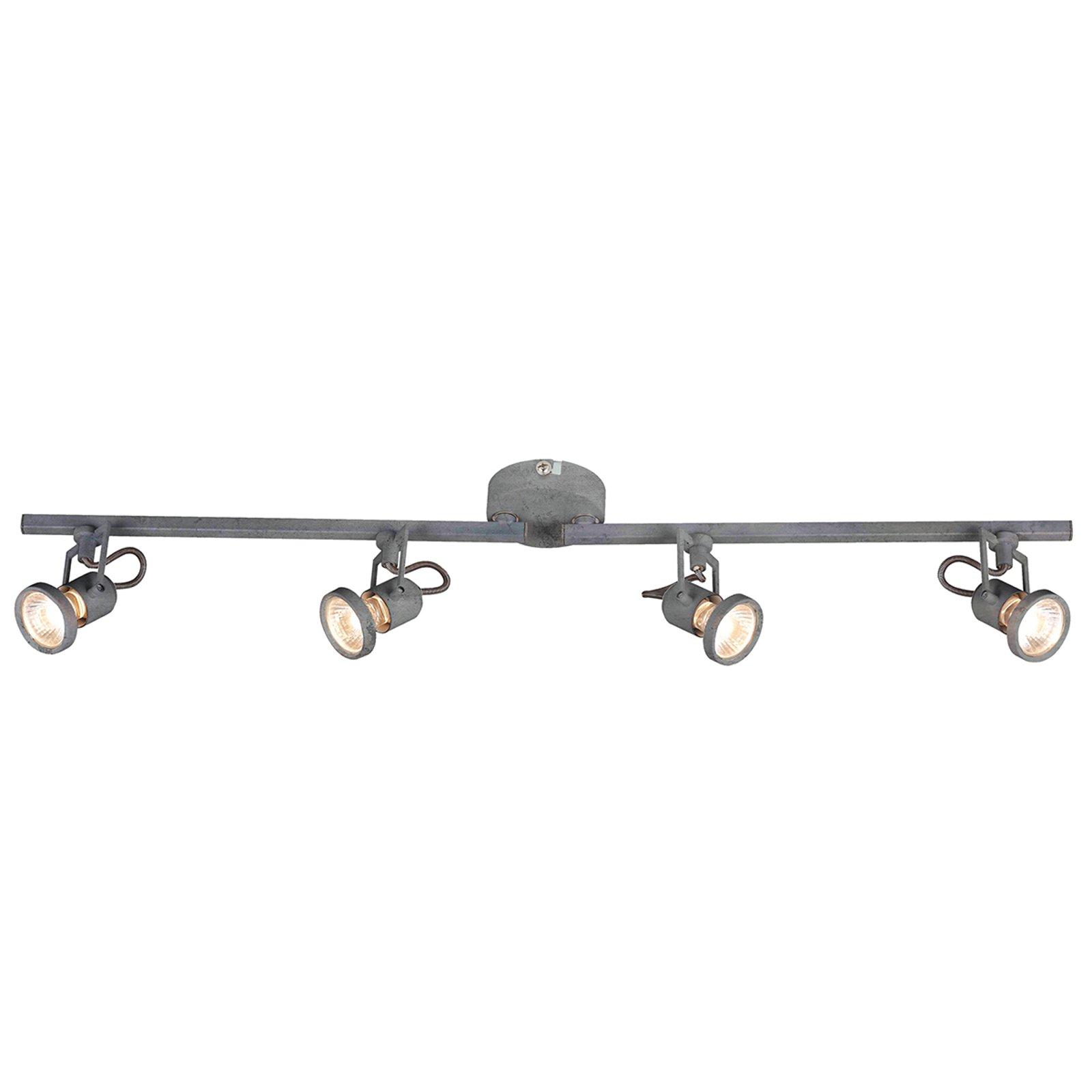 Justerbar LED-taklampe Concreto - 4 lys