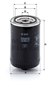 Öljynsuodatin MANN-FILTER W 940
