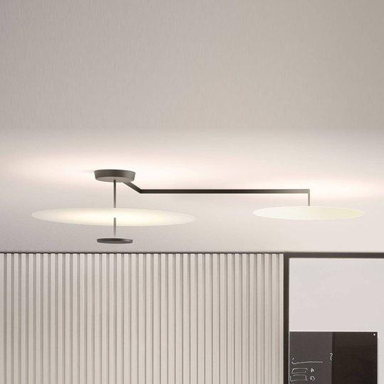 Vibia Flat LED-taklampe 3 lyskilder, Ø 90 cm hvit