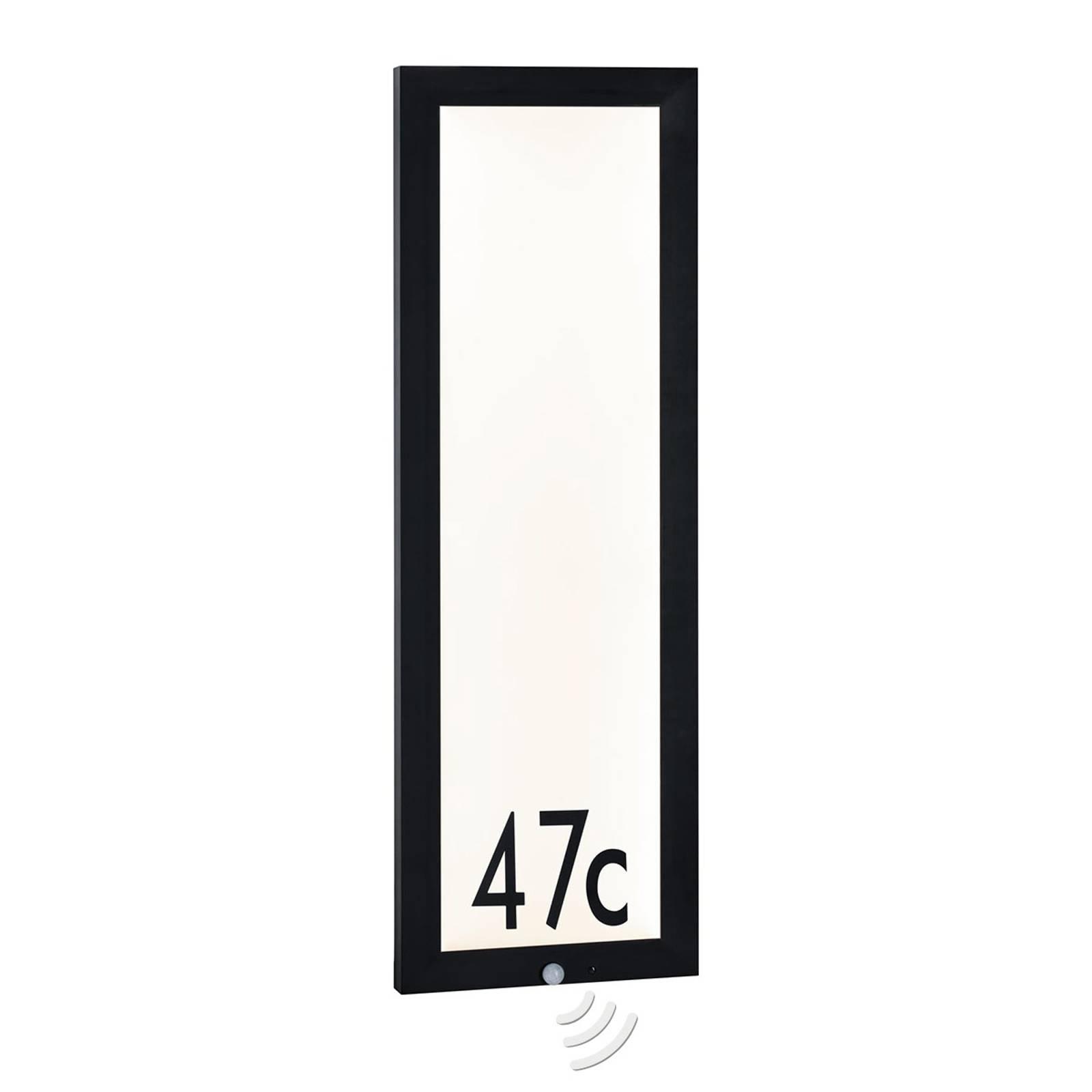 Paulmann utevegglampe Panel med sensor 30x90 cm