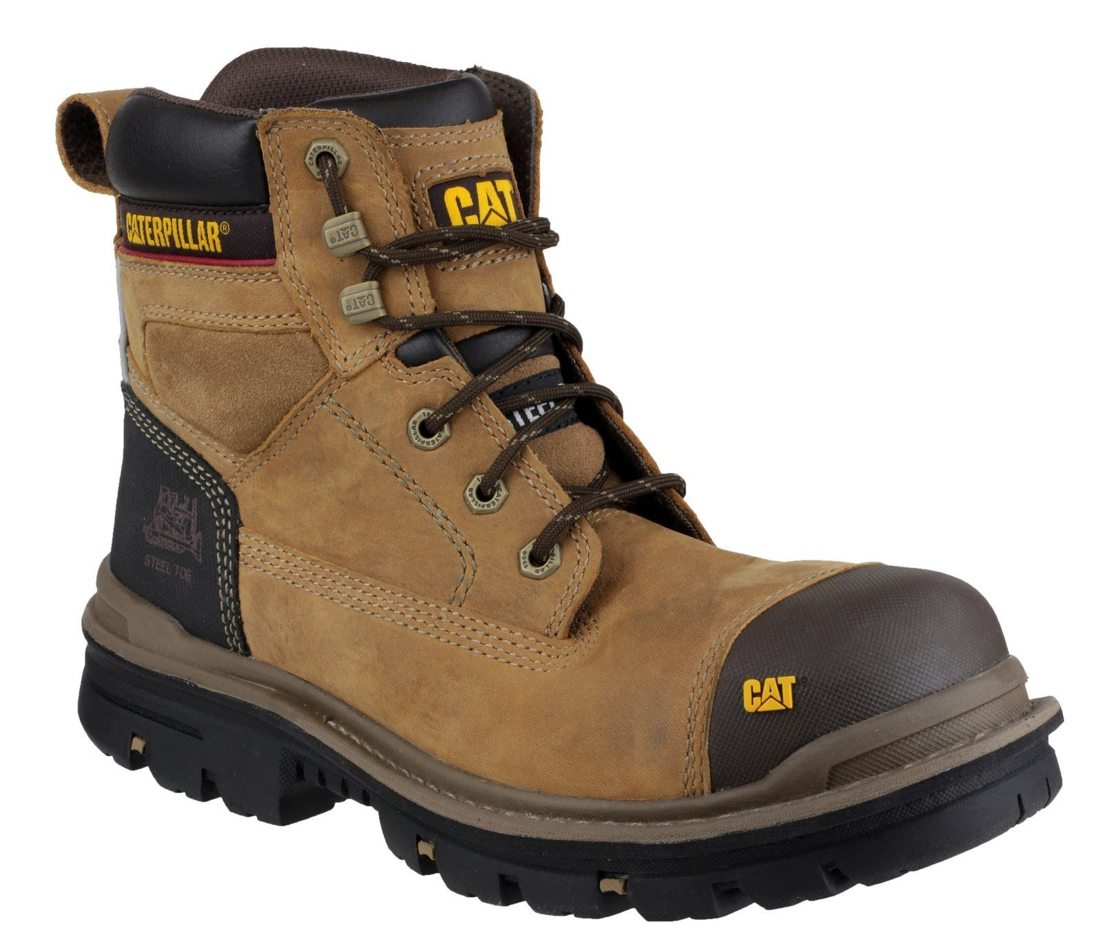 "Caterpillar Men's Gravel 6"" Safety Boot Beige 21618 - Beige 6"