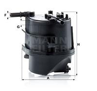 Polttoainesuodatin MANN-FILTER WK 939