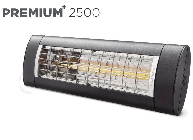 Solamagic - 2500 Premium+ Patio Heater - Antracite - 5 Years Warranty