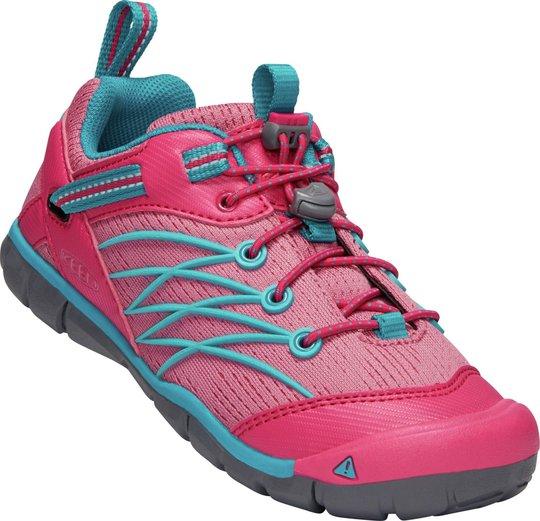 KEEN Chandler CNX Sneaker, Bright Pink/Lake Green 24
