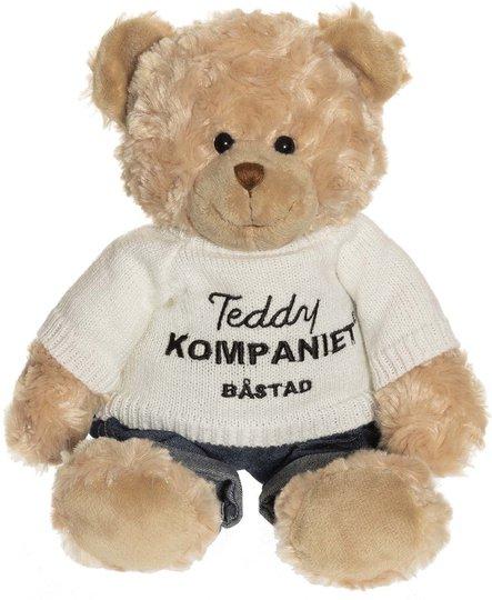 Teddykompaniet Teddy Med Strikket Logogenser & Jeans 32 Cm