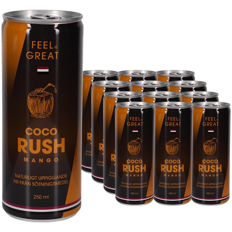 Träningsdryck Coco Rush Mango 12-pack - 83% rabatt