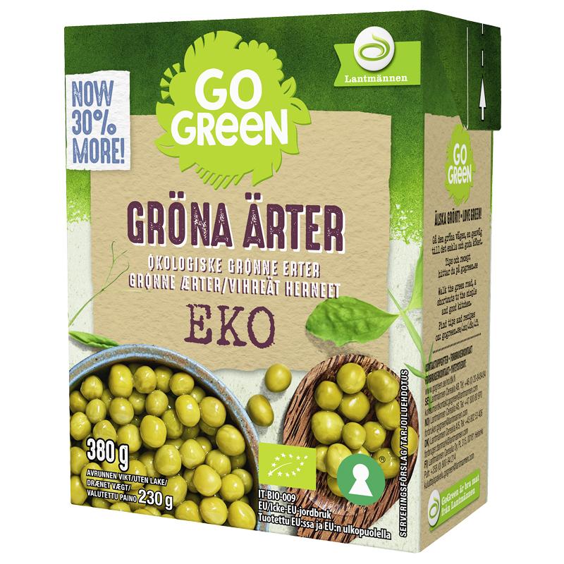 Eko Gröna Ärter - 25% rabatt