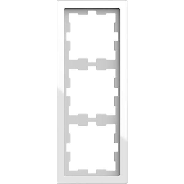 Schneider Electric MTN4030-6520 Kombinasjonsramme 3-roms, glass Krystall, hvit