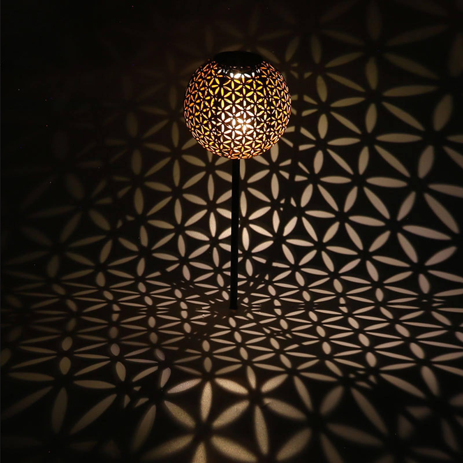 Aurinkokäyttöinen lamppu 33628, maapiikki, harmaa