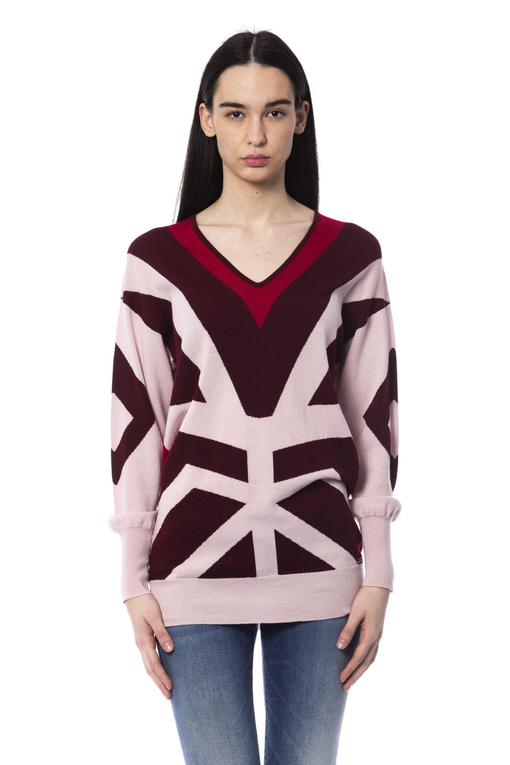 Byblos Women's Sweater Burgundy BY851754 - S
