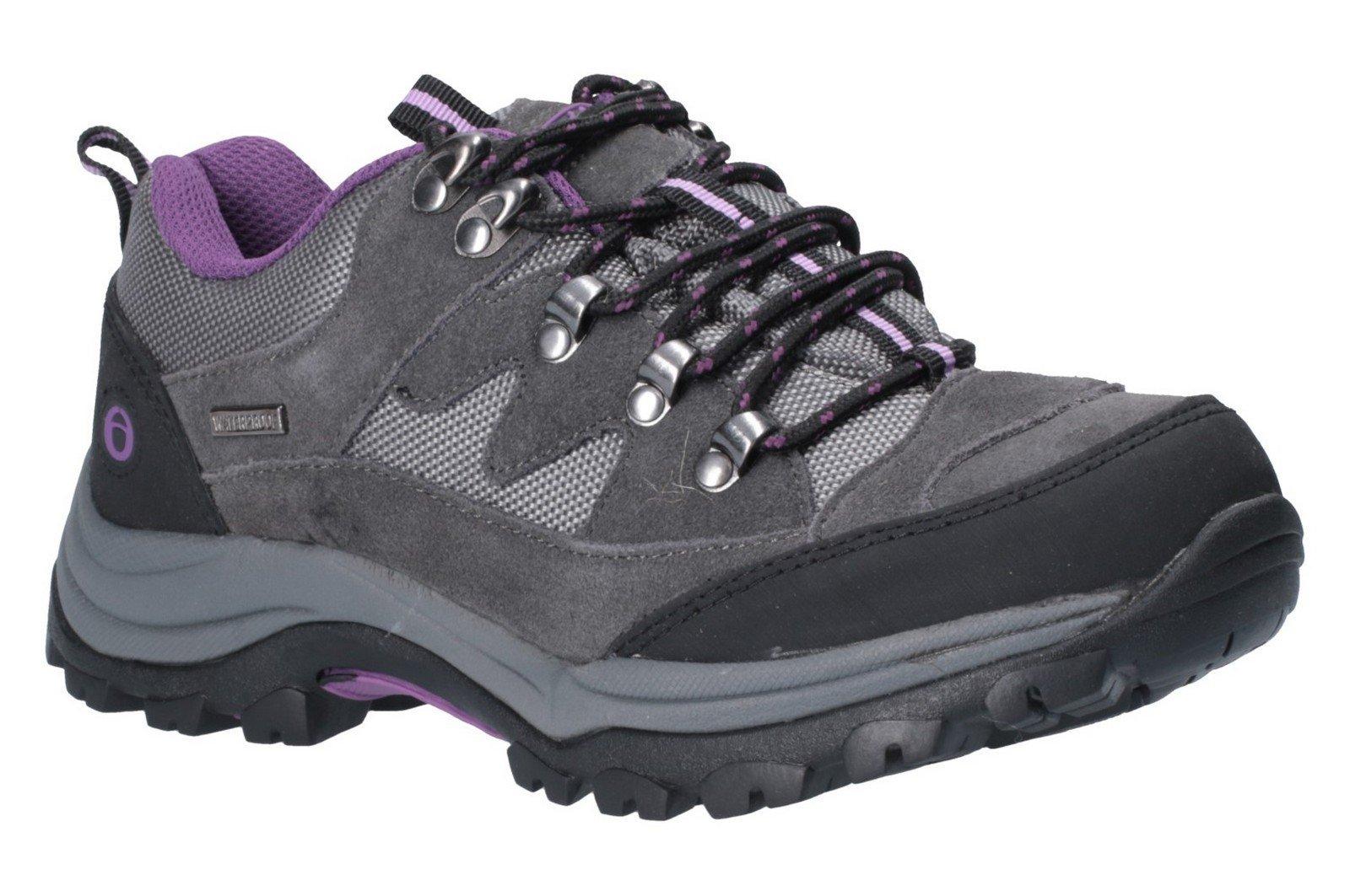 Cotswold Women's Oxerton Low Hiker Grey Purple 26279 - Grey/Purple 3