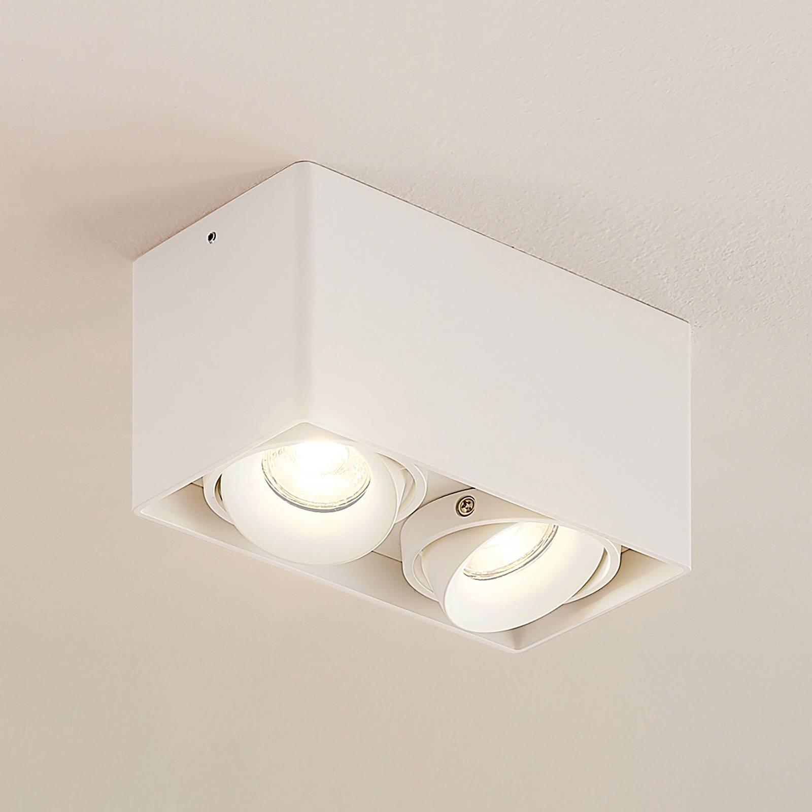 Arcchio Kubika -alasvalo, 2-lamp., valkoinen