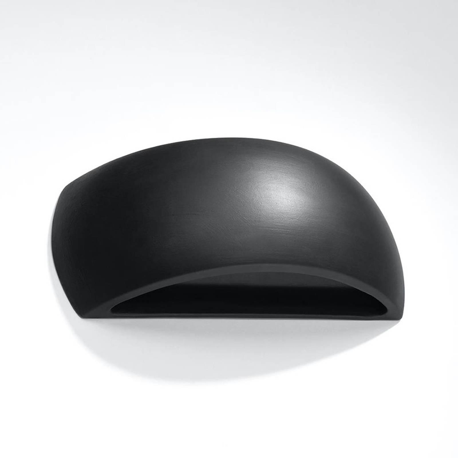 Seinävalaisin Bow up/down keramiikkaa, musta 32 cm