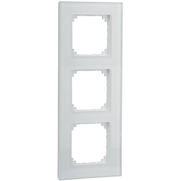 Schneider Electric Exxact Solid Kehys lasi, valkoinen 3-lokeroinen