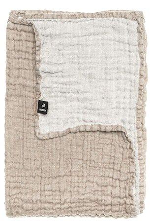 Hannelin sengeteppe – Natural/white, 260x260