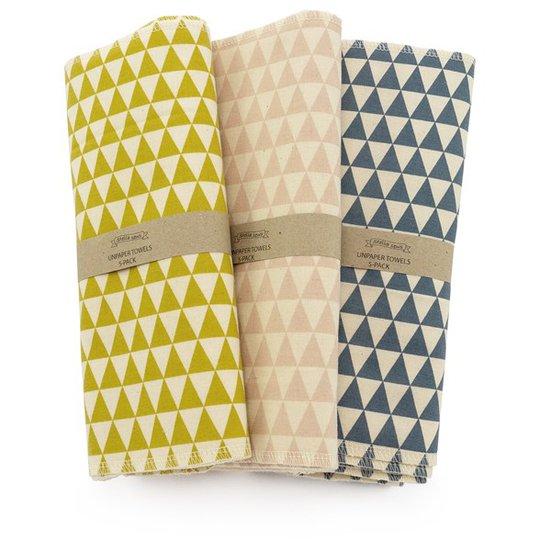 Hildebrandt Sustainable Living Unpaper Towels Mönstrade - Large, 5-pack