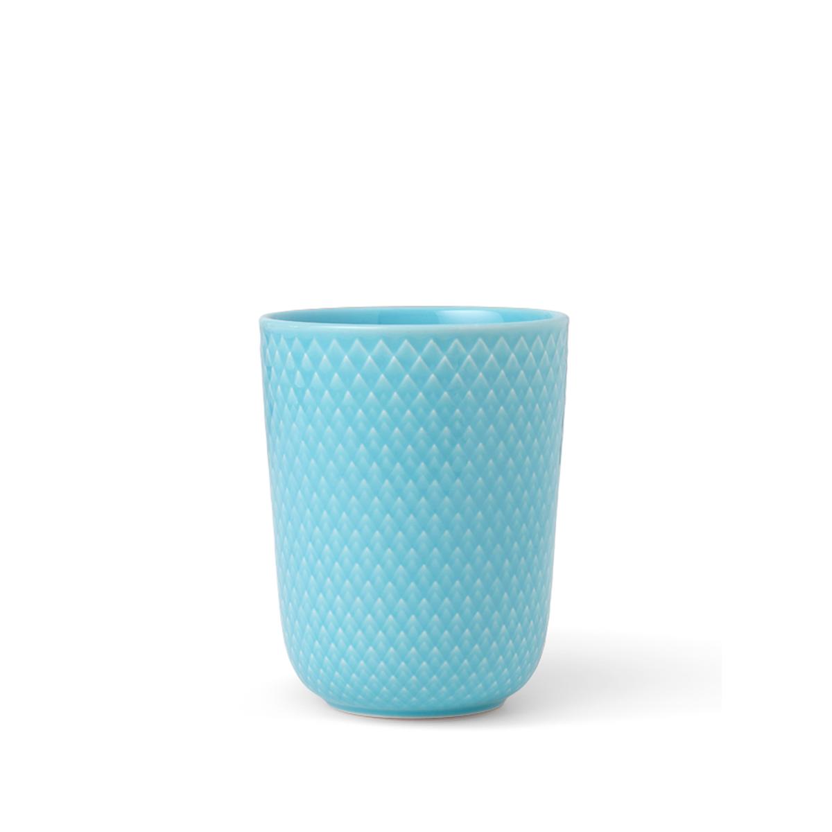 Lyngby Porcelæn - Rhombe Mug 33 cl - Turquoise (201967)