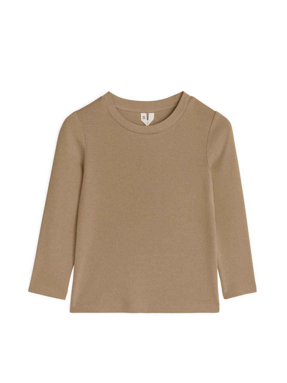 Long Sleeve T-Shirt - Beige