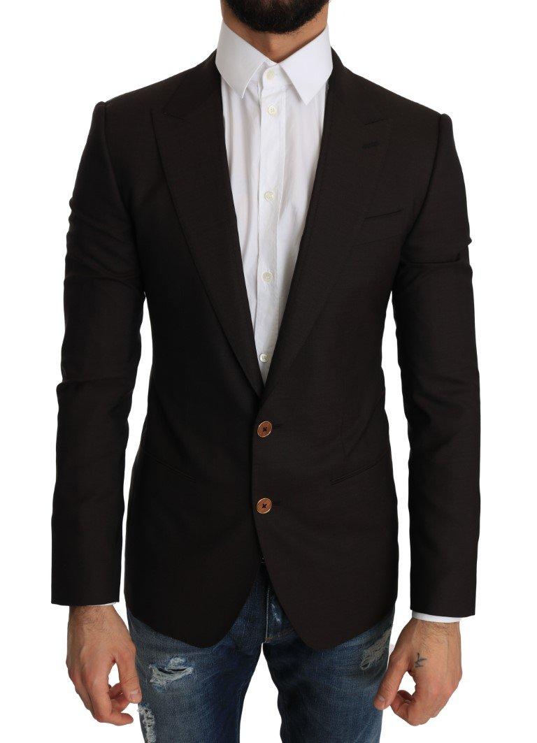 Dolce & Gabbana Men's Wool SICILIA Blazer Brown JKT2194 - IT44 | XS