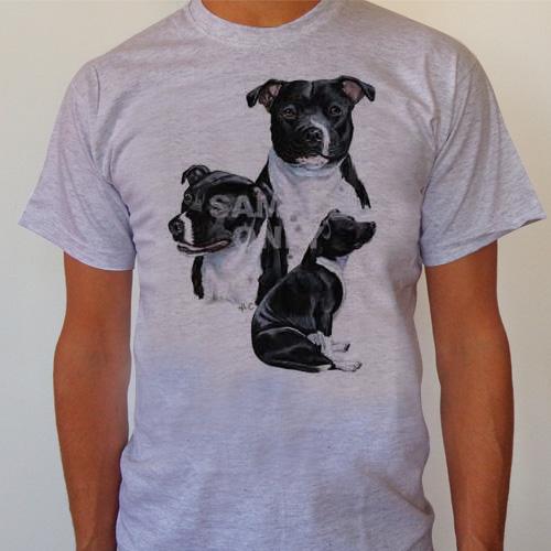 T-Shirt English Staffordshire Terrier Medium