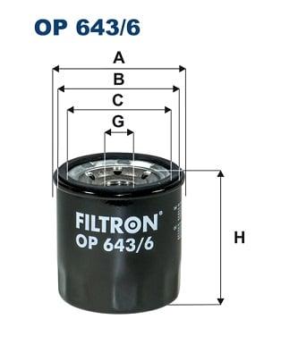 Öljynsuodatin FILTRON OP 643/6