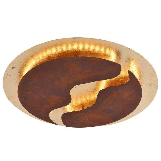 LED-kattolamppu Nevis, Ø 50 cm, ruskea, kulta