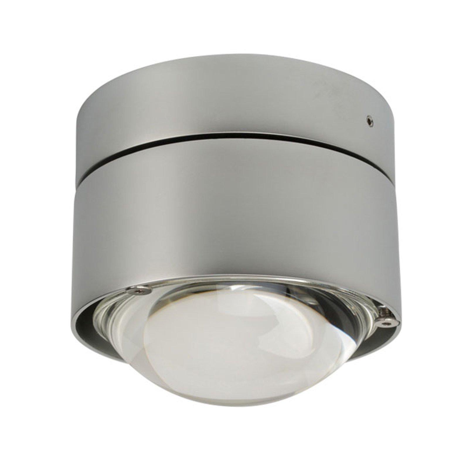 LED-taklampe Puk Plus, krom matt