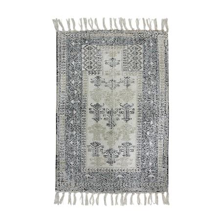 Printed bathmat Black/White overtufted 60x90 cm