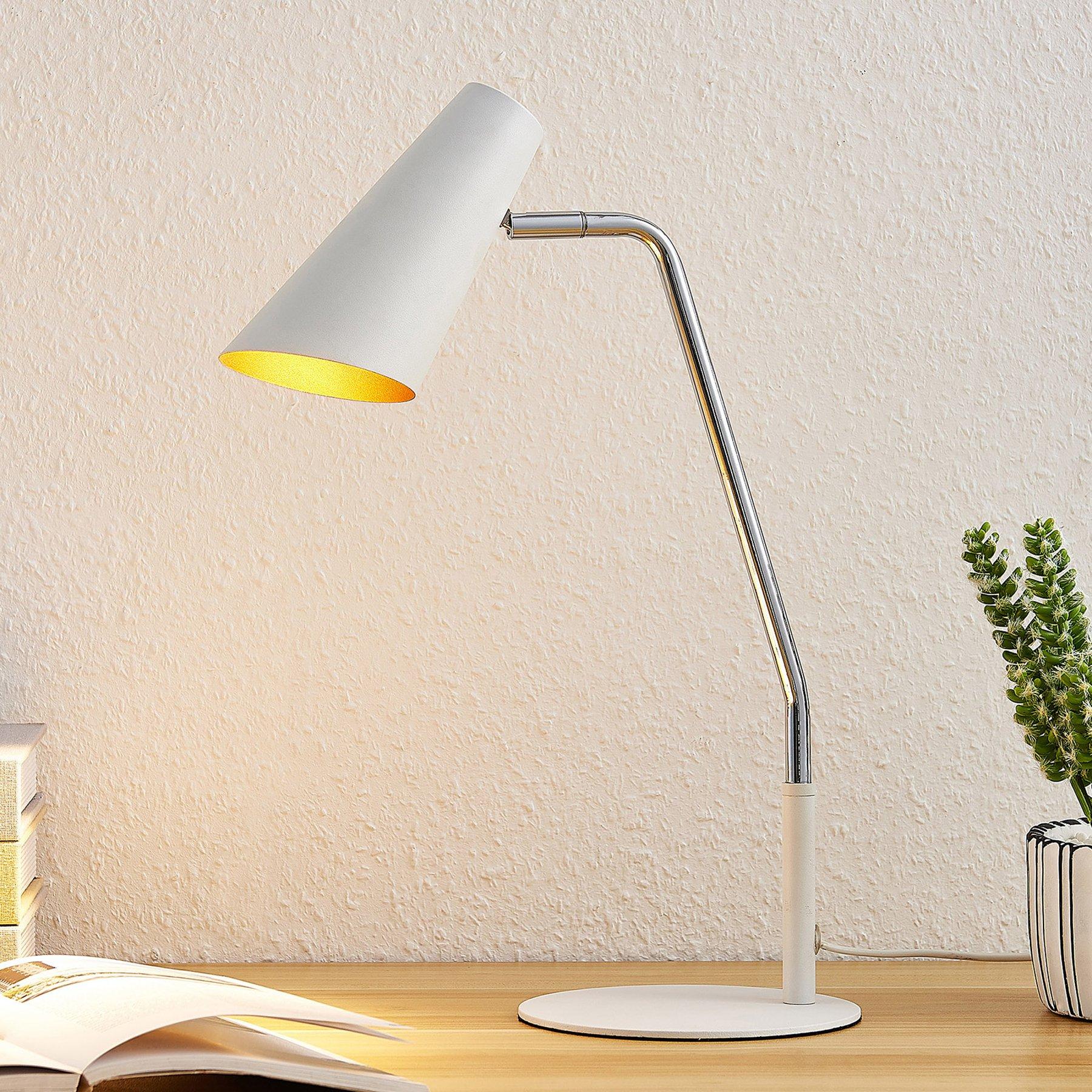 Lucande Wibke bordlampe i hvitt