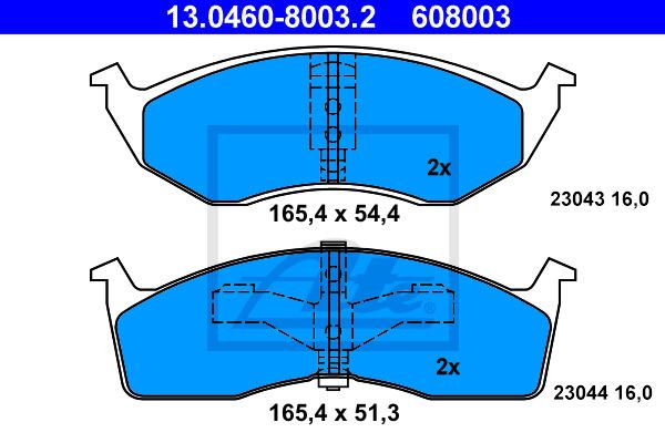 Jarrupalasarja, levyjarru ATE 13.0460-8003.2