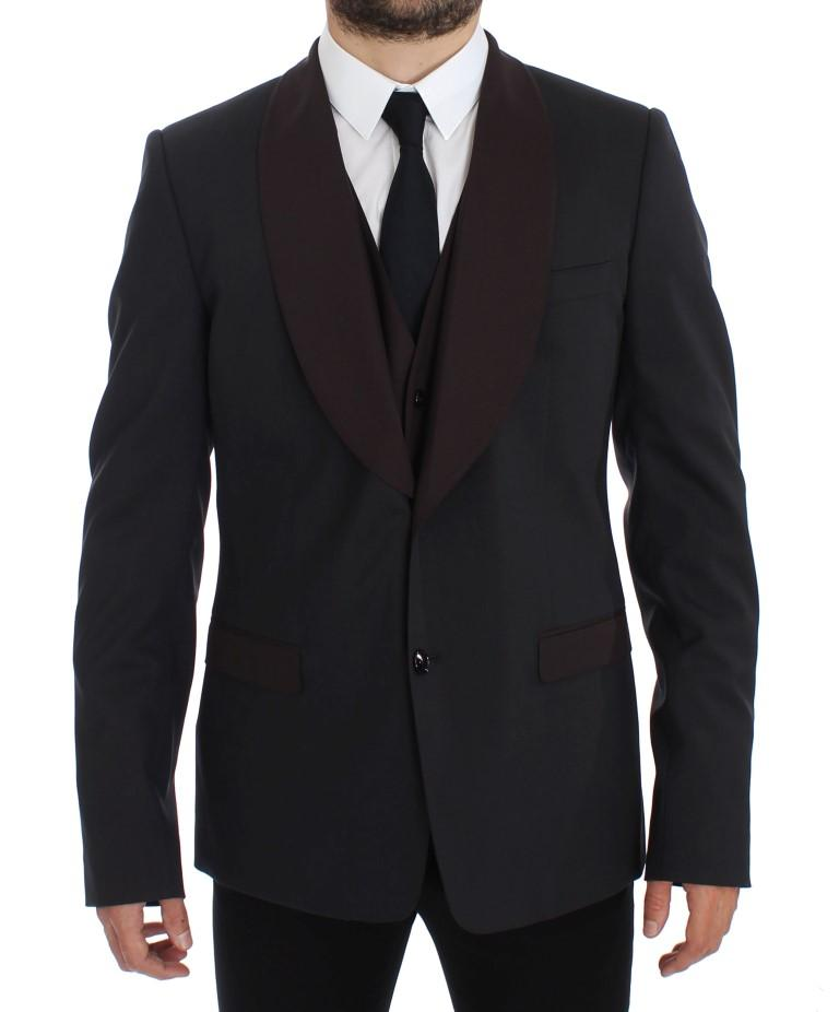 Dolce & Gabbana Men's Wool Stretch Blazer Gray GTT10068 - IT54   XL