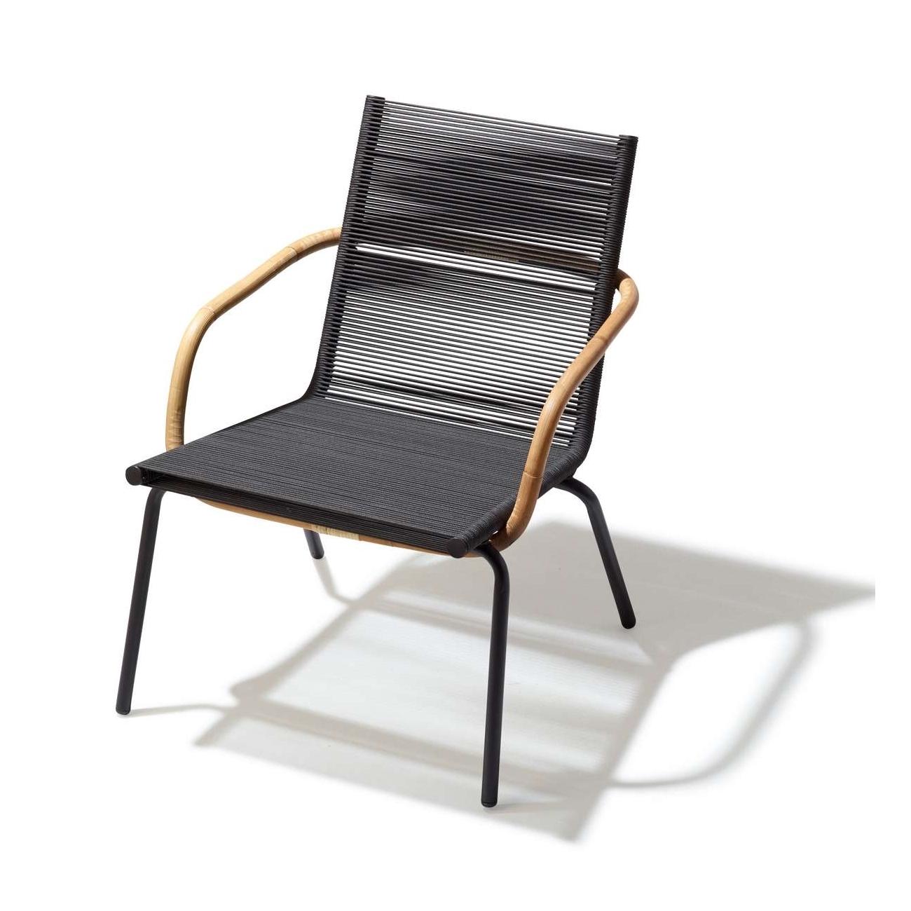 SIDD loungestol med armstöd brun, Cane-line