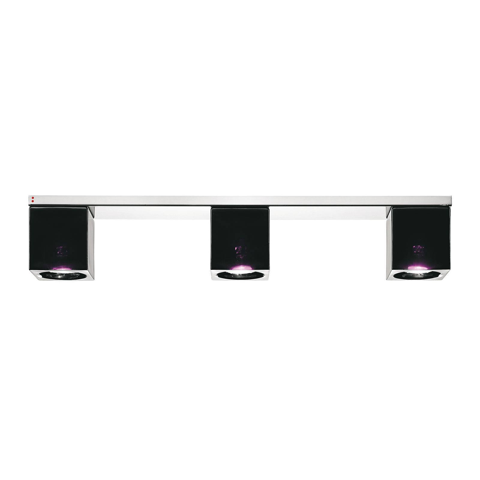 Fabbian Cubetto taklampe 3 lyskilder GU10 svart