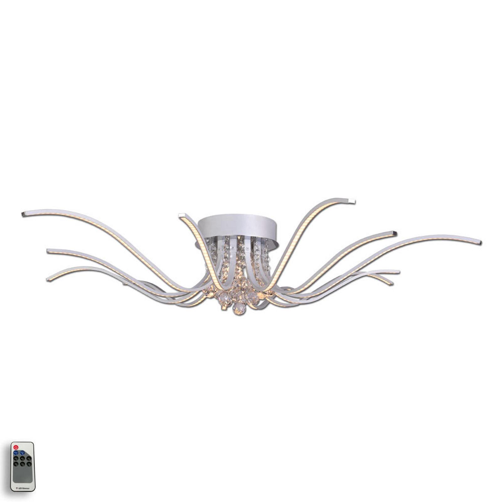 LED-kattovalaisin Lumenos, kristalli, alumiini