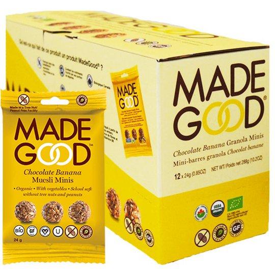 Hel Låda Granolabollar Choklad & Banan 12 x 24g - 47% rabatt