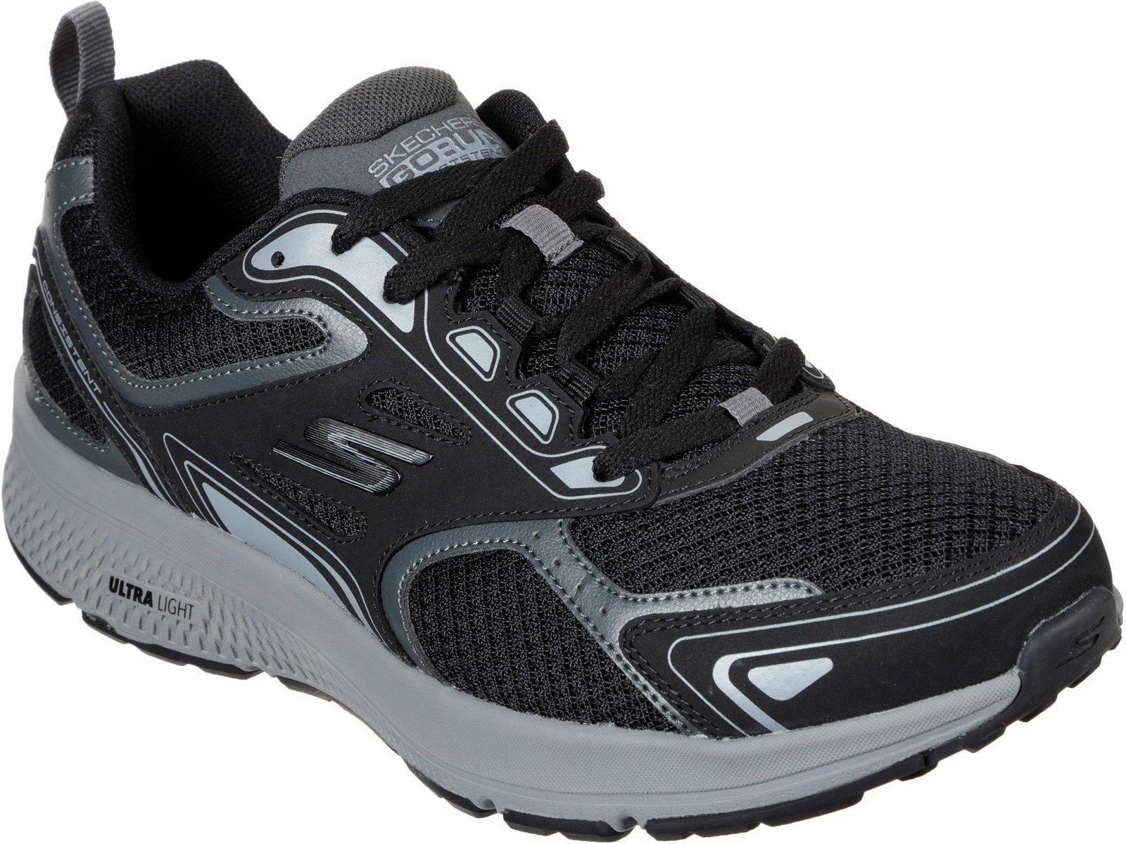 Skechers Men's GOrun Consistent Sports Trainer Various Colours 32204 - Black/Grey 6